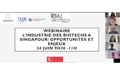 Webinaire: « L'industrie des biotechs à Singapour : opportunités et enjeux »