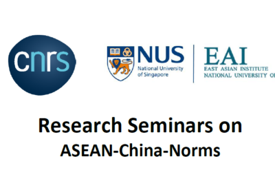 SINGAPORE: Research seminars on China-ASEAN Norms. 1 & 8 April