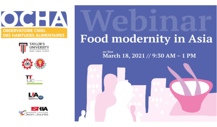 [MALAYSIA] 18 March – Webinar : Food Modernity and Diversity in Asia