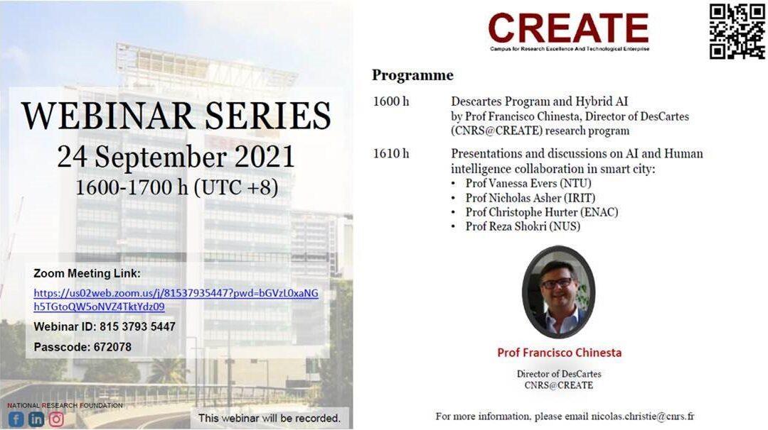 [SINGAPORE] CREATE Webinar Series 24 September